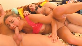 Degenerates loved to fuck a pretty horny babe on the couch--_short_preview.mp4