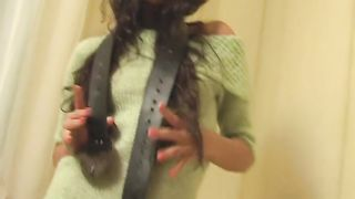 Hot pussy-flashing solo clip with long-haired brunette Alicia--_short_preview.mp4