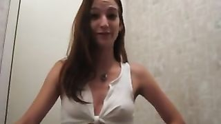 Young and slim white girl in kinky white top on webcam--_short_preview.mp4
