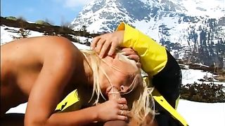 Dissolute blonde beauty gives blowjob in the mountains--_short_preview.mp4