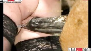 Pierced amateur mature whore in black stockings getting screwed by a horse--_short_preview.mp4