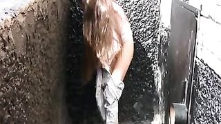 Russian brunette lady in the park makes her pants wet--_short_preview.mp4