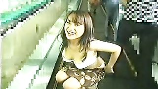 Shameless Japanese nympho gets on escalator and strips naked--_short_preview.mp4