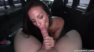 Magnificent brunette girl doesn't mind sucking a big dick of a stranger in the van--_short_preview.mp4