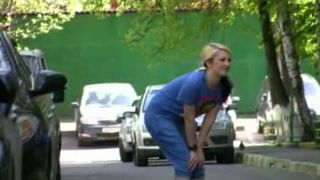 Teen Russian blonde girl in public getting wet and embarrassed--_short_preview.mp4