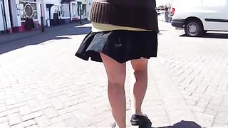 Wind blows exposing my chubby wife's big ass outdoors--_short_preview.mp4