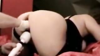 Bent over lady with huge ass wanted to get her wet pussy teased with vibe--_short_preview.mp4