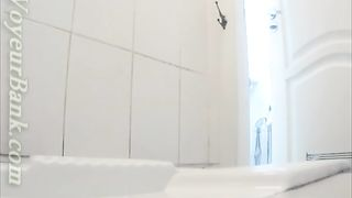 Adorable white stranger chick in high heel boots pisses in the toilet--_short_preview.mp4