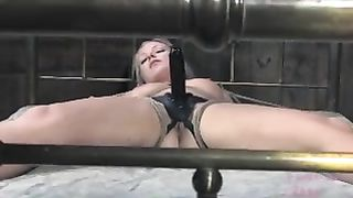 Effortlessly seductive blonde with well-matured breasts is tied to a bed--_short_preview.mp4