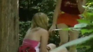 Two sweet blonde girls kiss in the forest and piss--_short_preview.mp4