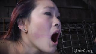 Oriental slave is tied to a wooden chair and she is ready for a strap-on play--_short_preview.mp4