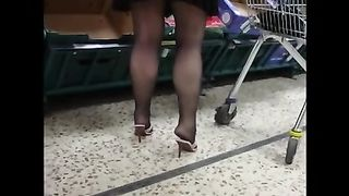 Her sexy black pantyhose legs and mini skirt drive me crazy--_short_preview.mp4