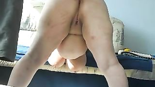 Chubby huge breasted pallid housewife was bent over and teased with toy--_short_preview.mp4