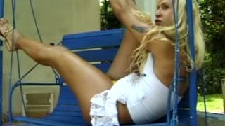 Wicked blonde tranny in slutty white dress shows off her booty--_short_preview.mp4