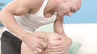 Hot and curvy blonde babe feeding on a dick of her man--_short_preview.mp4