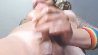 Juicy Cock Tranny Plays with Her Dick and Cum--_short_preview.mp4