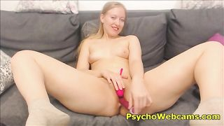 Russian Teen Blonde 19 Years Old Gold Toying--_short_preview.mp4