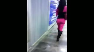 Bootyful shemale babe in pink pants walking in public--_short_preview.mp4