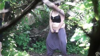 Women desperately unload their bladders in the woods--_short_preview.mp4
