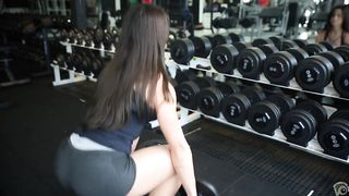 Fit stunner with a huge ass works out like crazy in the gym--_short_preview.mp4