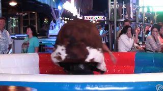 Craziest bull ride reveals the girl's private parts--_short_preview.mp4
