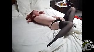 Ravishing redhead broad in stockings plays with her puffy clitoris--_short_preview.mp4