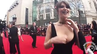 Glamorous cleavage of the elegant lady--_short_preview.mp4