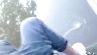 Girlfriend pees in a lake to relieve her bladder--_short_preview.mp4