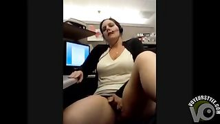 Customer support girl masturbates in her cubicle--_short_preview.mp4