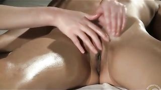 Sensual massage with tender lesbian pussy play--_short_preview.mp4