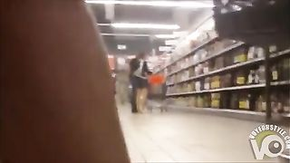 Shaved pussy under her dress at the store--_short_preview.mp4