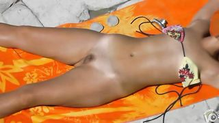 Ukrainian nudist girl sunbathes with her hirsute twat and tits out--_short_preview.mp4