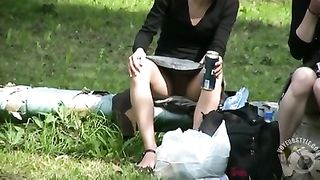 Voyeur upskirt with two cuties at the park--_short_preview.mp4