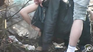 Skinny girl pees in the woods with her boyfriend--_short_preview.mp4