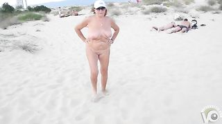 Exhibitionist wife is naked on the sandy beach--_short_preview.mp4