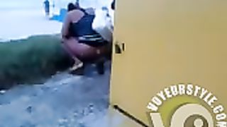 Desperate chick with big booty pees behind a building--_short_preview.mp4