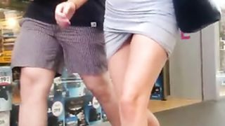 Short skirt hottie walking down the street--_short_preview.mp4