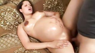 Husband wakes up pregnant wife for quickie on couch--_short_preview.mp4