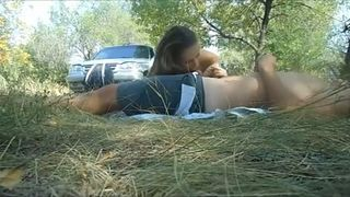 Russian girlfriend sucking my dick at the picnic in a forest--_short_preview.mp4