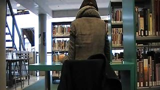 Flashing and stroking my thick uncut dick at the library--_short_preview.mp4