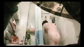 Fat auntie gets naked in the bathroom on hidden camera--_short_preview.mp4