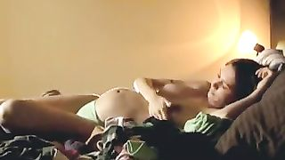My buddy spied on his own preggo wife who was busy with her masturbation--_short_preview.mp4