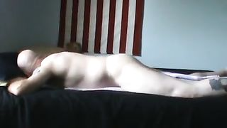 This horny man humps his mattress naked with a towel underneath him--_short_preview.mp4