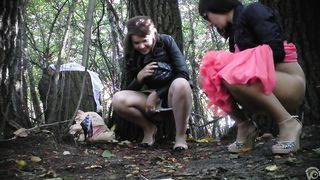 Two Russian bridesmaids pee in the city park--_short_preview.mp4