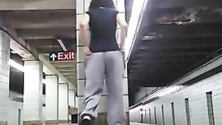 Big butt amateur masturbates in a subway station--_short_preview.mp4