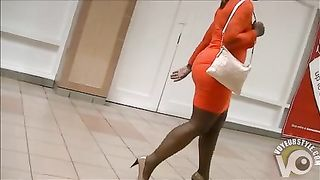 Black booty in a tight dress at the mall--_short_preview.mp4