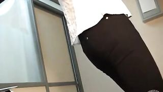 Cute brunette tries on new clothes on hidden camera--_short_preview.mp4