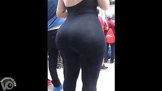 Fat ass blonde in a spandex catsuit in public--_short_preview.mp4