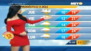 Curvaceous senorita tells us about the weather--_short_preview.mp4