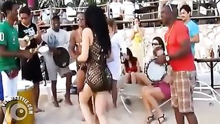 Hot Latina chicks dancing at a beach party--_short_preview.mp4